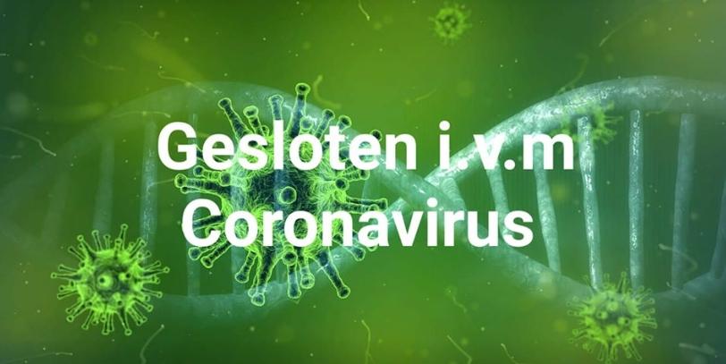 Gesloten i.v.m. Coronavirus
